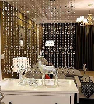 Amazon De Wufeng Hange Perlen Vorhang Glas Abgeschnitten
