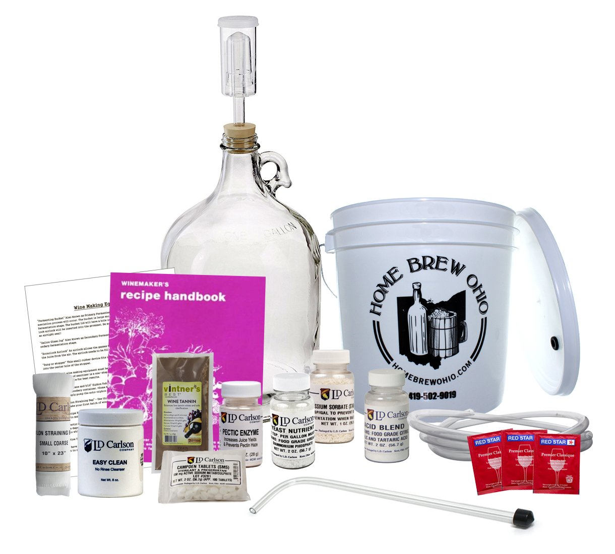 Midwest Homebrewing and Winemaking Supplies 1-gallon-wine-from-fruit-kit 1 gal Wine from Fruit Kit Home Brew Ohio