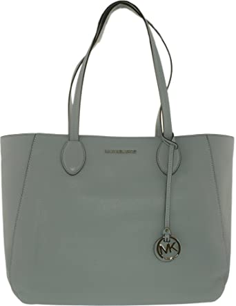 f52aa7b22f78 MICHAEL Michael Kors Ani North South Top Zip Tote (Dusty Blue): Handbags:  Amazon.com