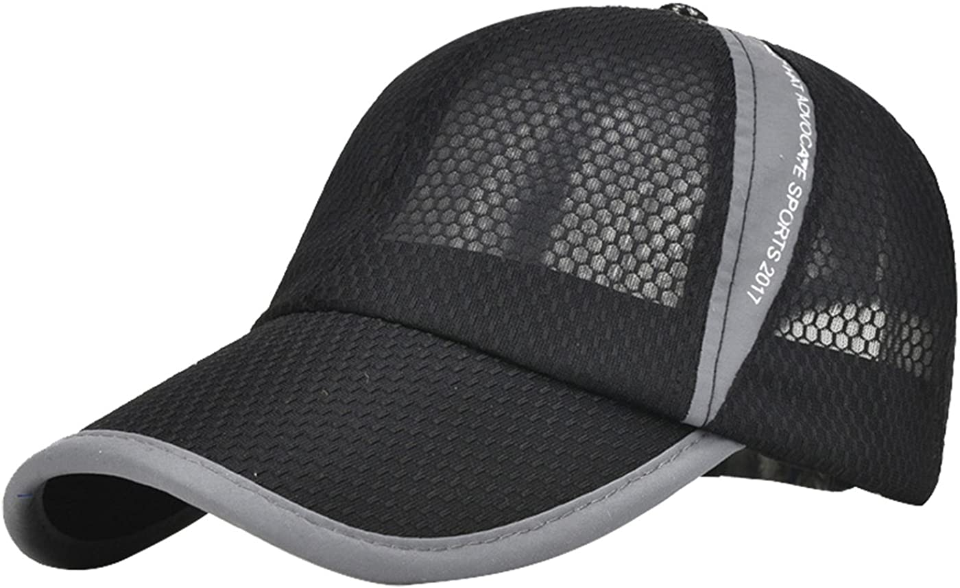 Bad Weather Adjustable Baseball Visor Cap,Mesh Hat,Men Women Athletic Hats