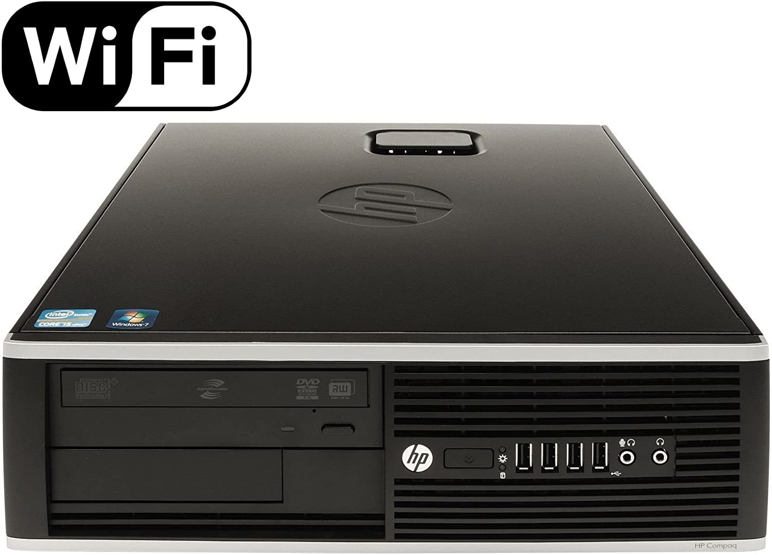 HP Premium Flagship 8200 Small Form Factor Business Desktop (Intel Quad-Core i5 3.1GHz, 8GB DDR3 RAM, 1TB HDD + 240GB SSD, DVD, VGA, DisplayPort, Windows 10 Professional) (Renewed)