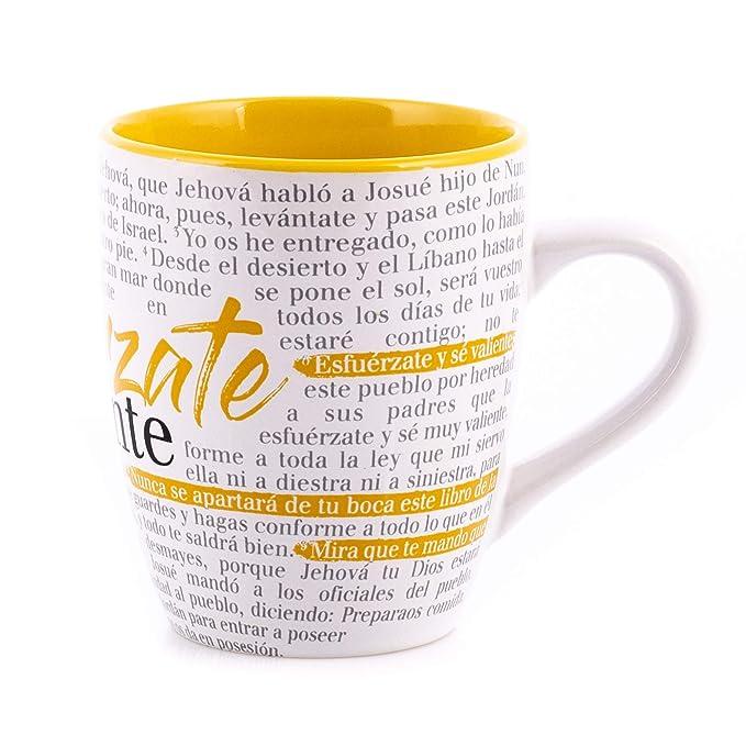 Amazon.com | Taza Biblica Textual - Esfuérzate: Cups, Mugs ...