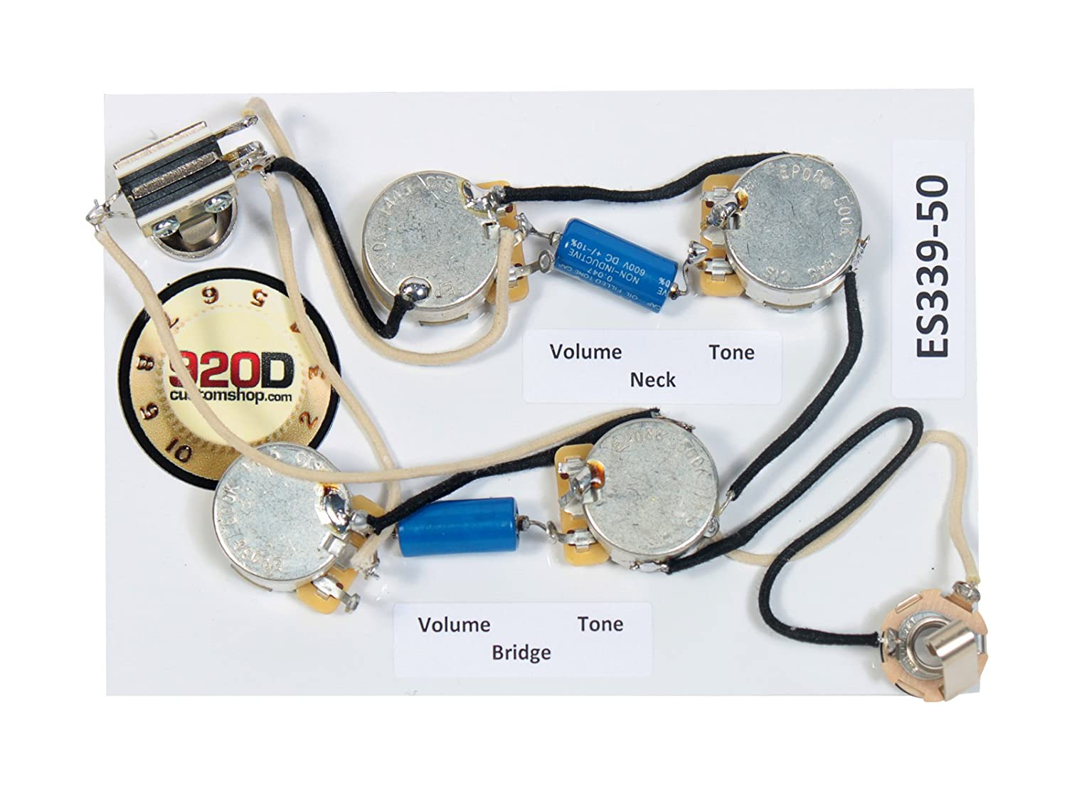 920d Es 339 50s Wiring Harness For Gibson Cts 335 Switchcraft Pio Paper In Oil Musical Instruments