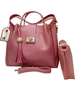ddabc4c1fb Vogue Street Women's Mauve PU Handbag and Sling Bag Combo (vs7770071 ...