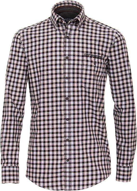 Casamoda Camisa a Cuadros Negro-Blanco-óxido XXL: Amazon.es: Ropa y accesorios