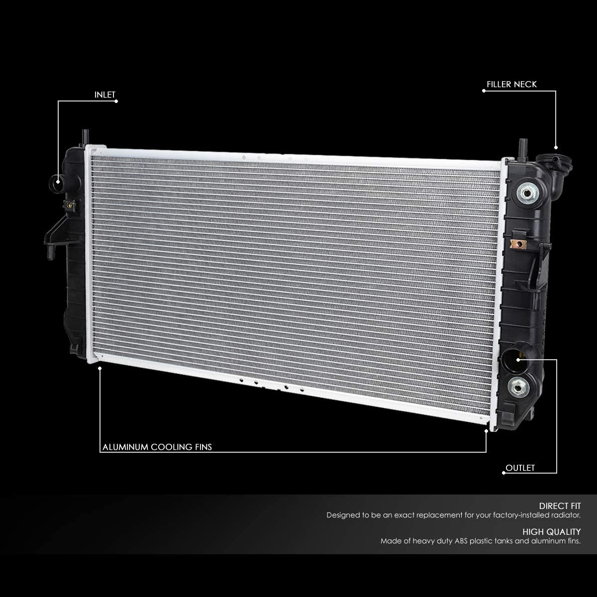 FOR 06-08 BUICK LUCERNE 3.8L AT OE STYLE FULL ALUMINUM CORE RADIATOR DPI 2854