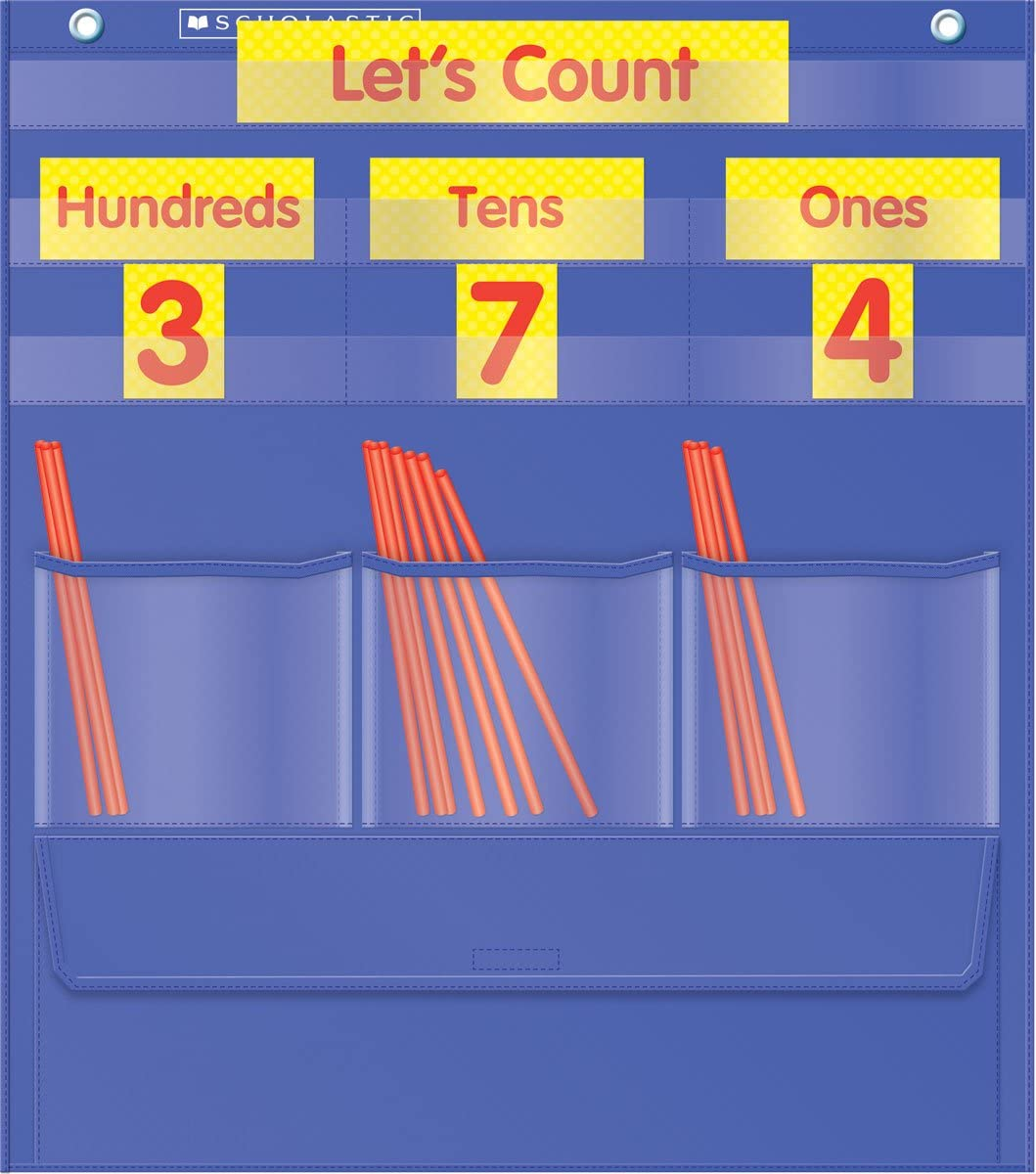 Place value pocket chart with straws a place value manipulative