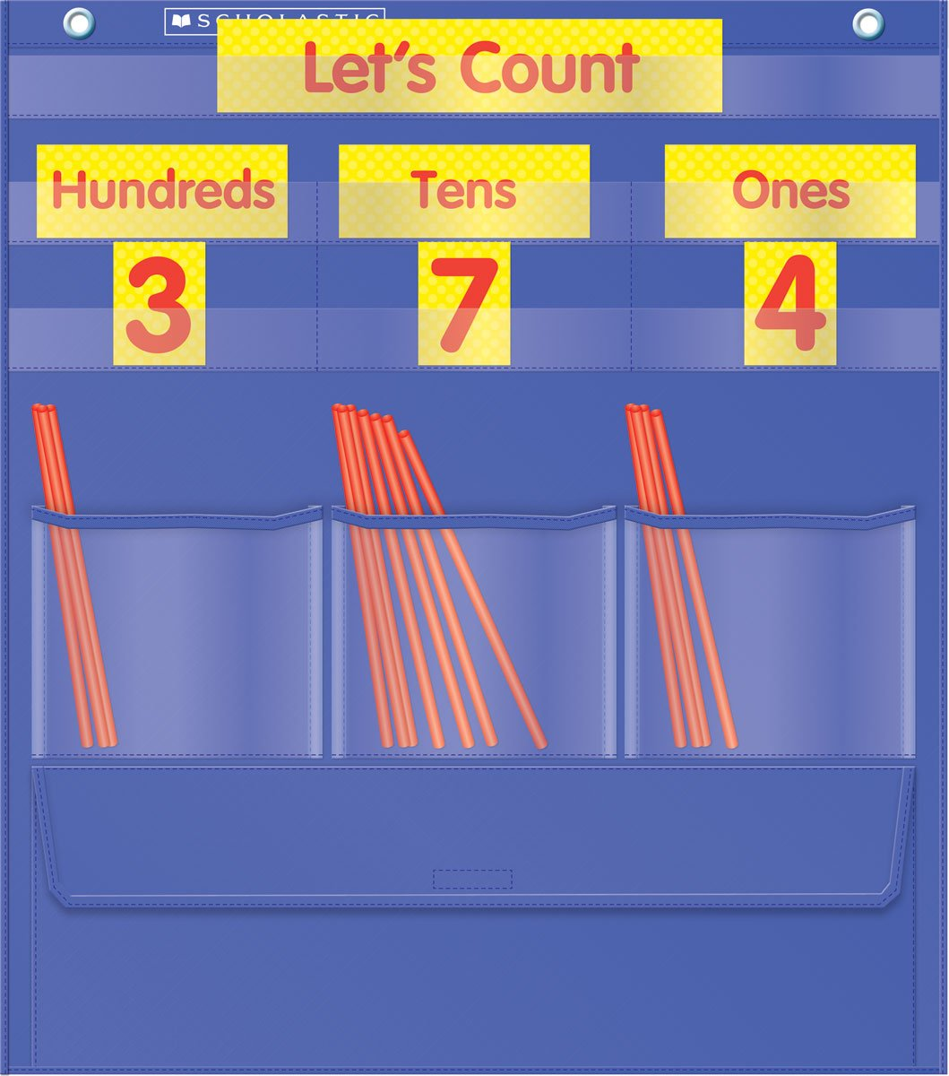 Counting Caddie and Place Value Pocket Chart Scholastic Inc. (COR) TF5105 Education Education / General