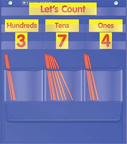 Amazon com counting caddie and place value pocket chart