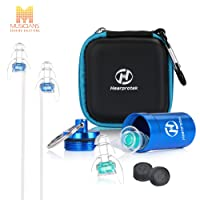Musicians Earplugs, Hearprotek Noise Cancelling High Fidelity Earplugs-Hearing Protection for Concerts, Live Music, Drummer, Percussion, DJ & Clubbing (with 3 pairs filters)