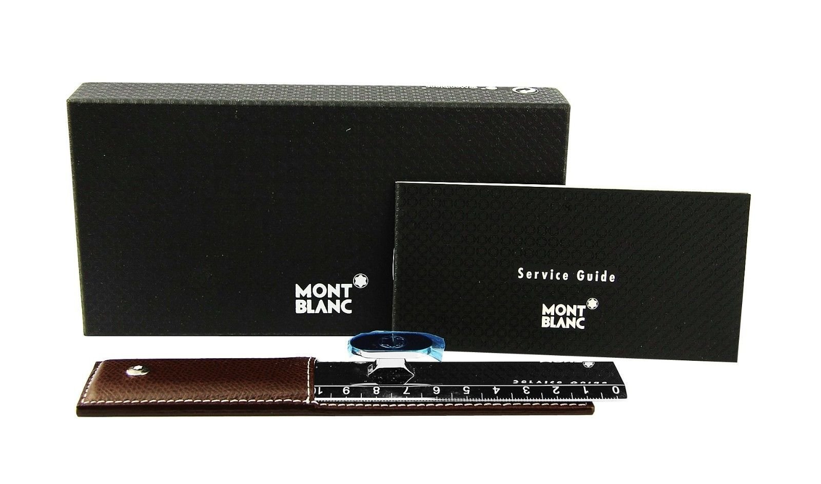 MONTBLANC RARE 7757 LIFESTYLE ACCESSORIES RULER BROWN LEATHER CASE. FRANCE