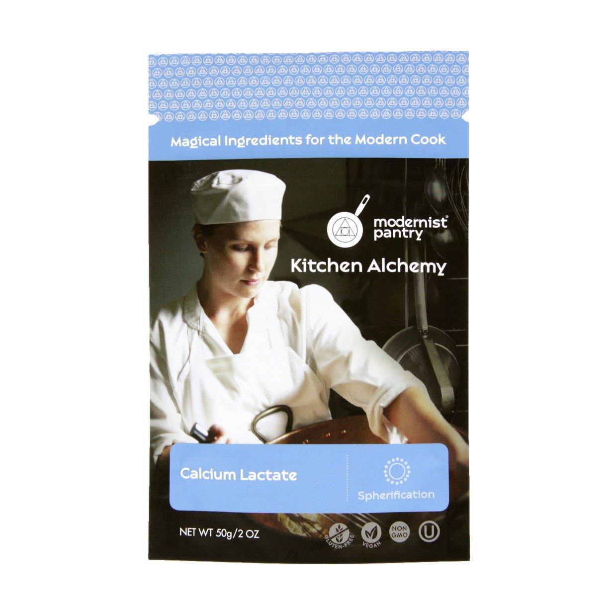 Pure Calcium Lactate ⊘ Non-GMO ☮ Vegan ✡ OU Kosher Certified - 50g/2oz