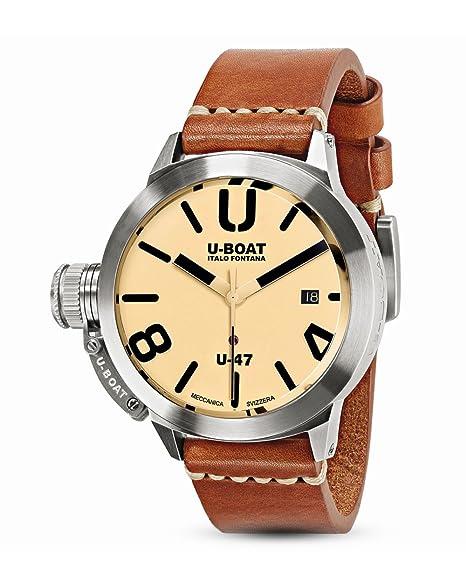 Reloj Automático U-Boat Classico, Acero Inoxidable 316L, Beige, 47mm, 8106: U-BOAT: Amazon.es: Relojes