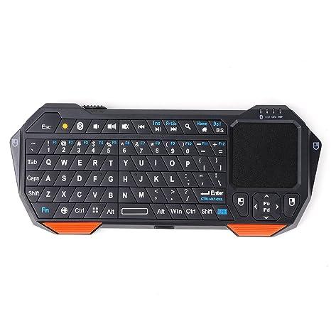 Imikoko Portátil Universal Mini Bluetooth inalámbrico Controlador de Teclado con Touchpad para Tablets, Smartphones,