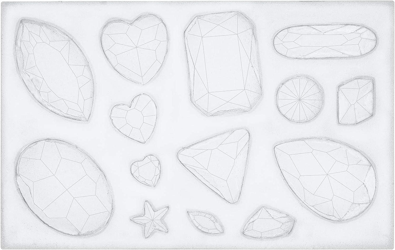 Gem Diamond Crystal Shape Fondant Sugarcraft Mold Chocolate Mould Cake CO