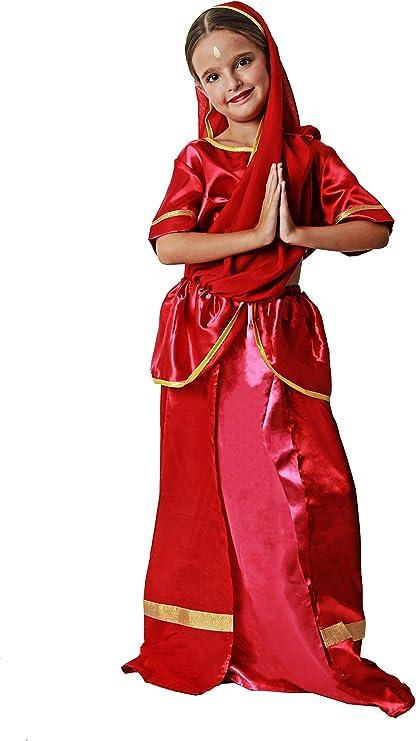 Costumizate! Disfraz de Hindú para niña Talla 5-6 Especial para ...
