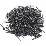 ROOBEEO 2BA Thread Plastic Tip Dart Points 300 Pack Soft Dart Tips Replacement Dart Accessories-Black