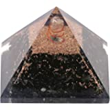 Aatm Reiki Energized chakra healing Black Orgone Pyramid With Clear Crystal Gemstone/ EMF Protection Meditation Yoga Energy Generator (Stone for Protection from all Negative Energies)