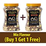 BLACK DOG Treats for Dogs Calcium Biscuits with Candy Mix Treats for Puppies & Adult Dogs, 2 Pack= 900GM (Buy 1 Get 1 Free)