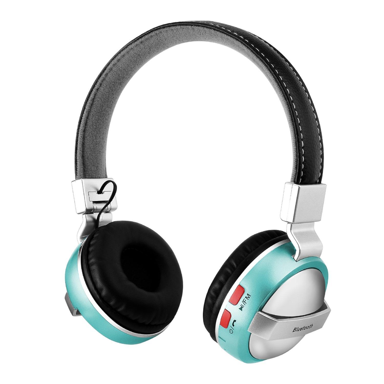 Pawaca - Auriculares inalámbricos plegables con cancelación de ruido, Bluetooth 4.1, micrófono integrado y batería de iones de litio, bonitos regalos para ...