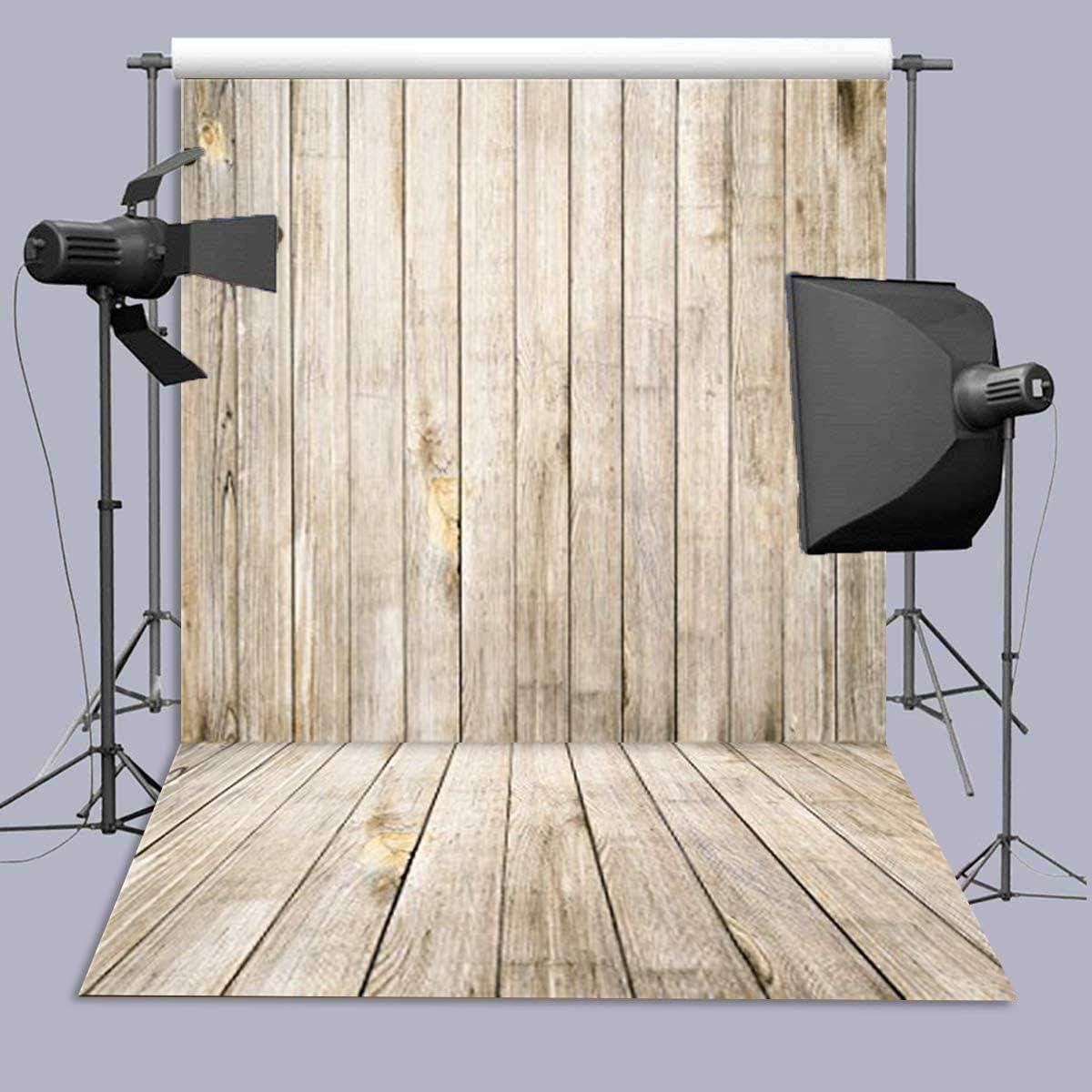 Photo Background for Baby Wooden Floor Photography Backdrops Suitable for Children Art Studio Vinyl 5x7FT QX508
