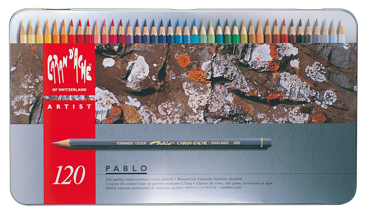 Caran d'Ache Pablo Colored Pencil Set Of 120 Metal Box (666.420)