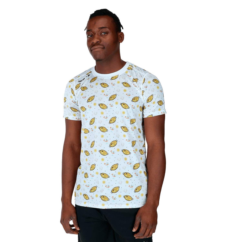Unisex Adulto Luanvi Camiseta de Manga Corta Estampado Paella Valenciana Edici/ón 2019