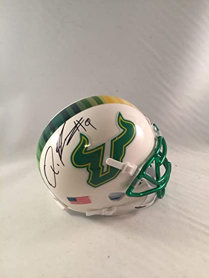 Image Unavailable. Image not available for. Color  Quinton Flowers Signed  South Florida Bulls Mini Helmet Usf Bulls - Autographed ... b46f576ea