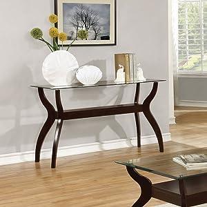 Coaster Furniture Glass Top Sofa Table -