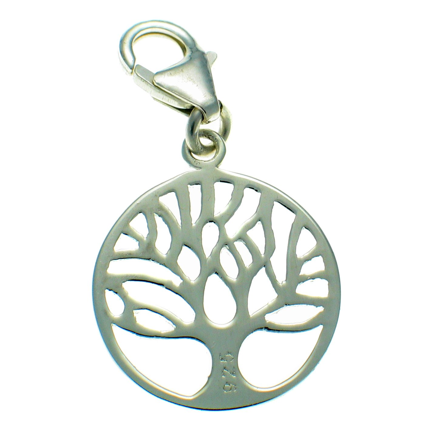 Sterling 925 British Silver Tree of Life Clip On Charm by Welded Bliss