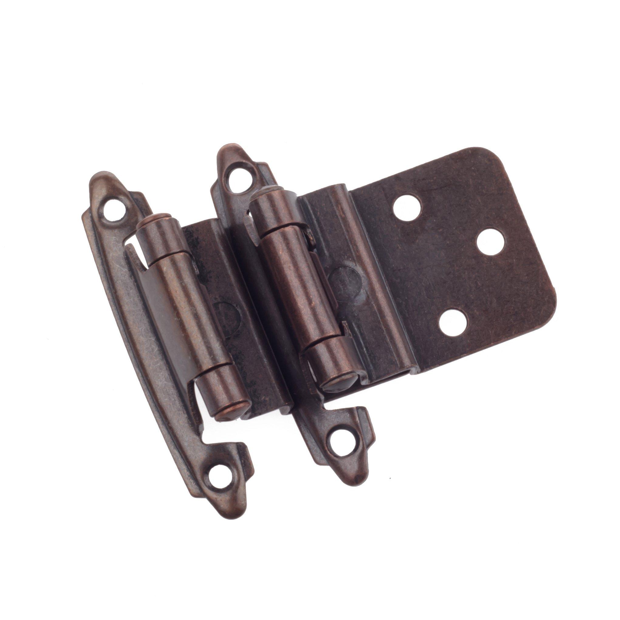 DecoBasics 3/8'' INSET Cabinet Hinge, Oil Brushed Bronze, 25 Pairs (Sets) Pack