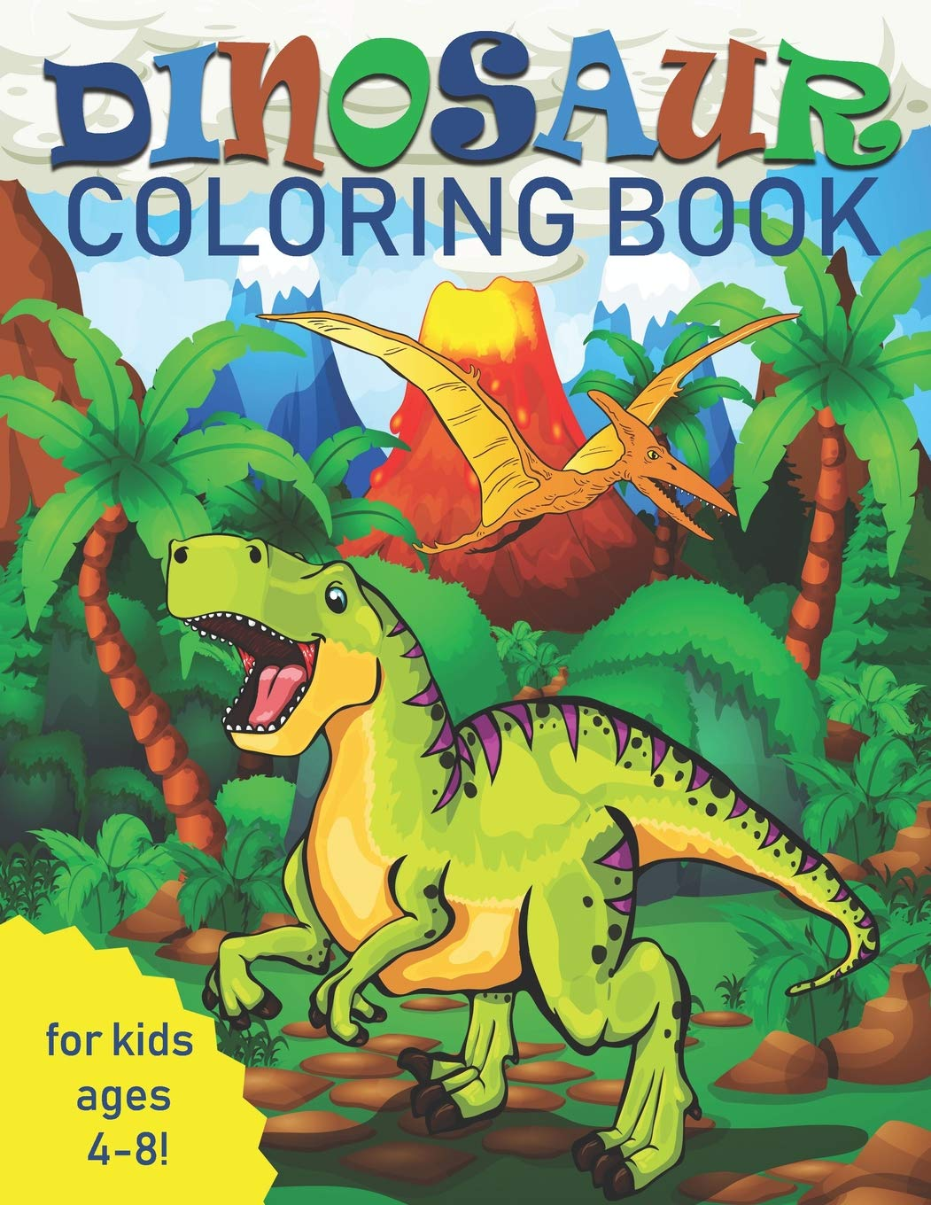 Dinosaur Coloring Book for Kids: Great Gift for Boys & Girls ...