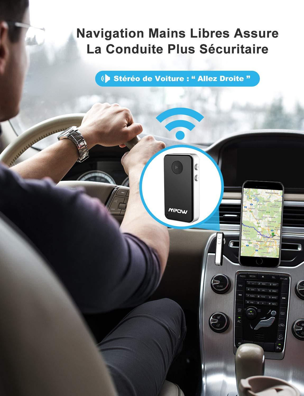 Streambot Mini Bluetooth-Kfz-Zusatzadapter//Freisprech-Kfz-Freisprecheinrichtungen f/ür 10 Stunden//Tragbarer kabelloser Musikadapter f/ür Kfz//Home-Audio-Stereoanlage Mpow Bluetooth Empf/änger