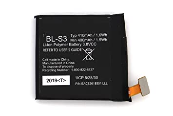 Amazon.com: BL-S3 Battery Replacement for LG G Watch R W110 ...