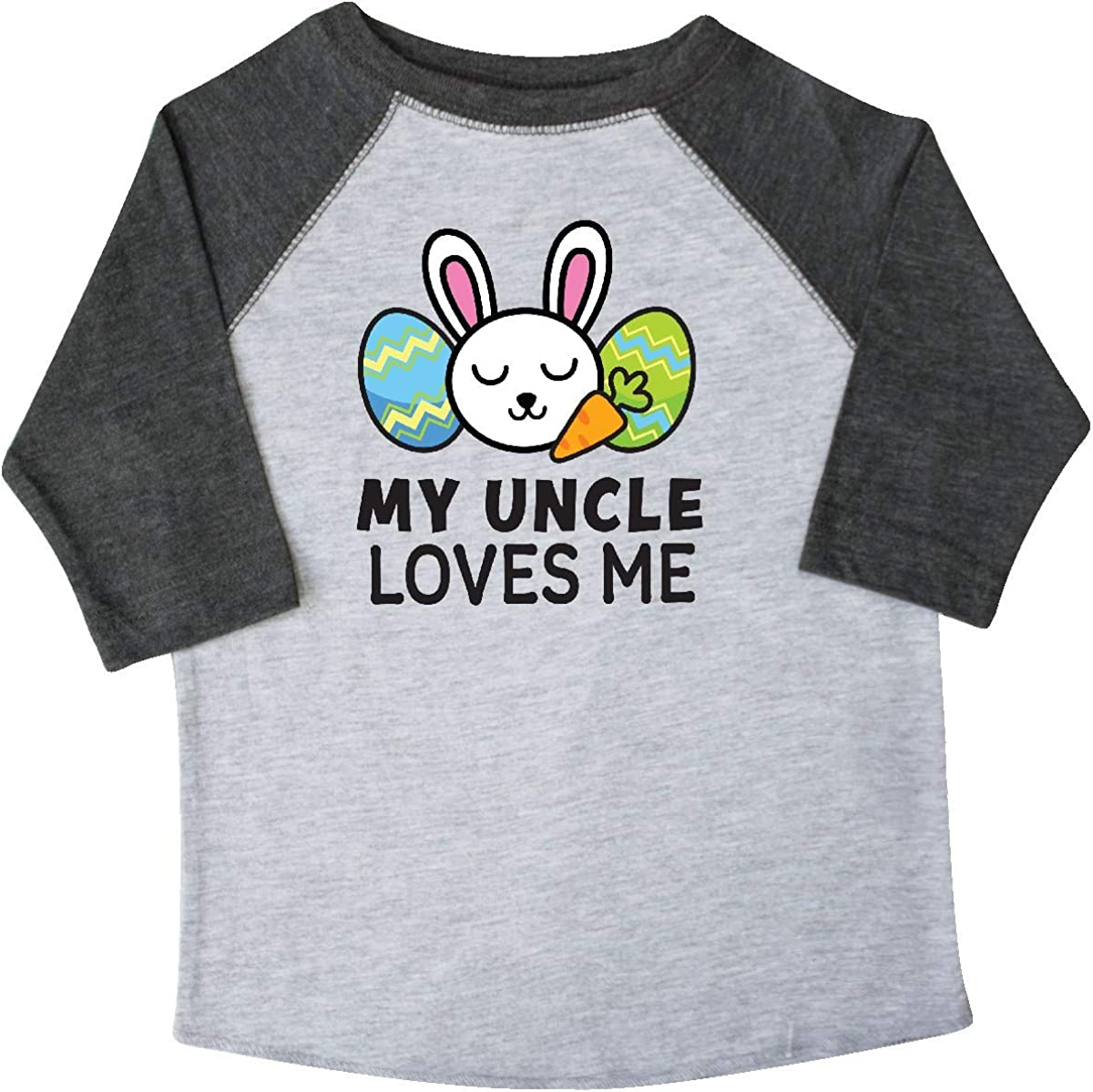 inktastic My TIO Loves Me with Bunny and Easter Eggs Toddler T-Shirt