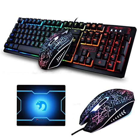 Beautiful Motospeed Gaming Keyboard And Mouse Set With Rainbow Backlight For Desktop Consumer Electronics