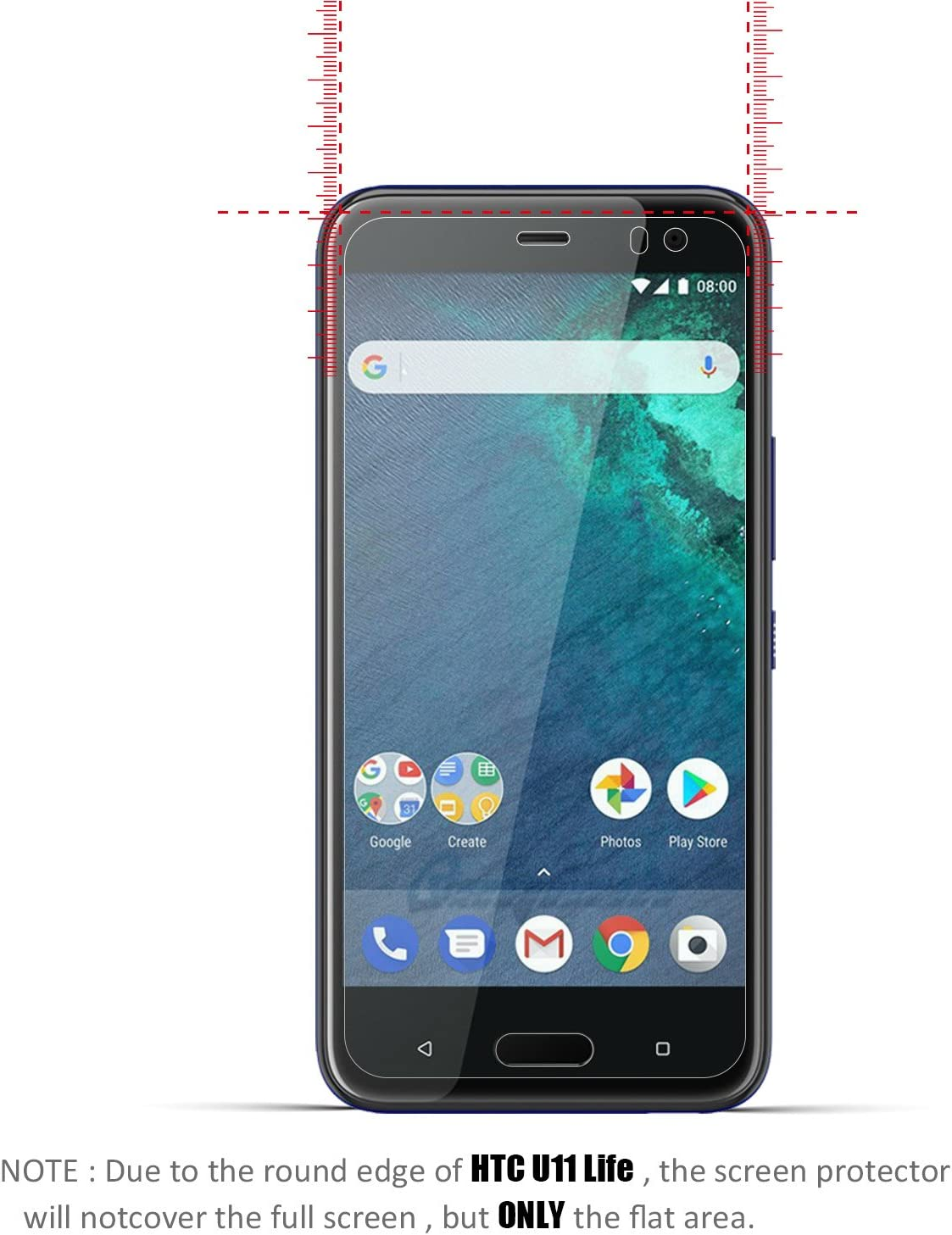 2-Paquetes] HTC U11 Life Protector de Pantalla, Beyeah Vidrio Templado con[9H Dureza] [Alta Definición] [Garantía de por vida] para HTC U11 Life: Amazon.es: Electrónica