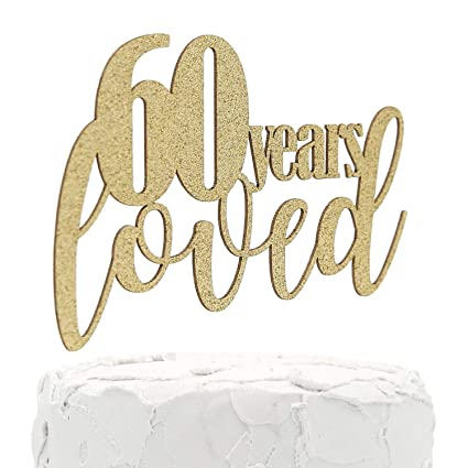 nanasuko 60 cumpleaños/aniversario decoración para tarta ...