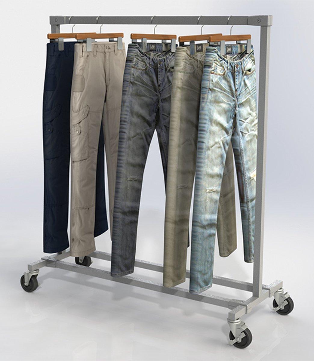 Burnside Garment Display Ballet Metal Bar Rack Retail Store Clothing Fixture NEW