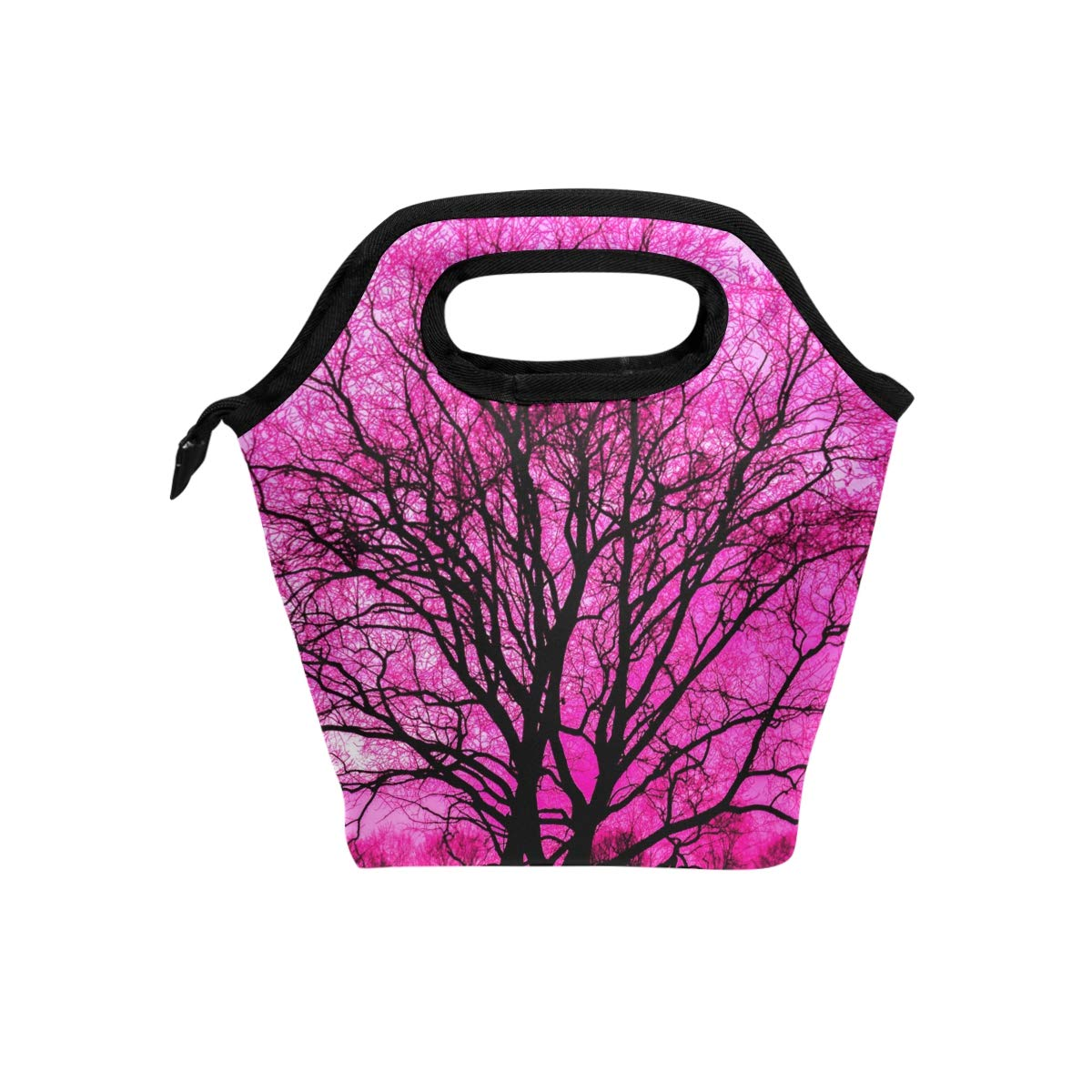 c0e41316ef1f Amazon.com - HEOEH Pink Sakura Tree Lunch Bag Cooler Tote Bag ...