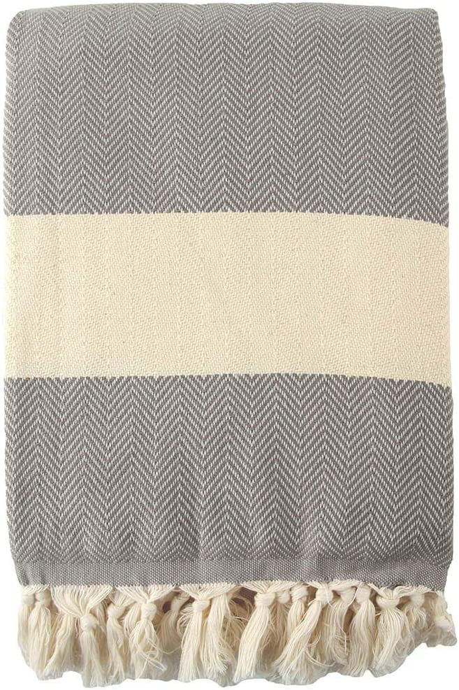 Grey, 200 x 240cm, 80 x 95 Lightweight for Summer /& Winter Soft /& Breathable Cotton for All Seasons Chevron Throw Blanket Queen Size 100/% Cotton Throw Blanket