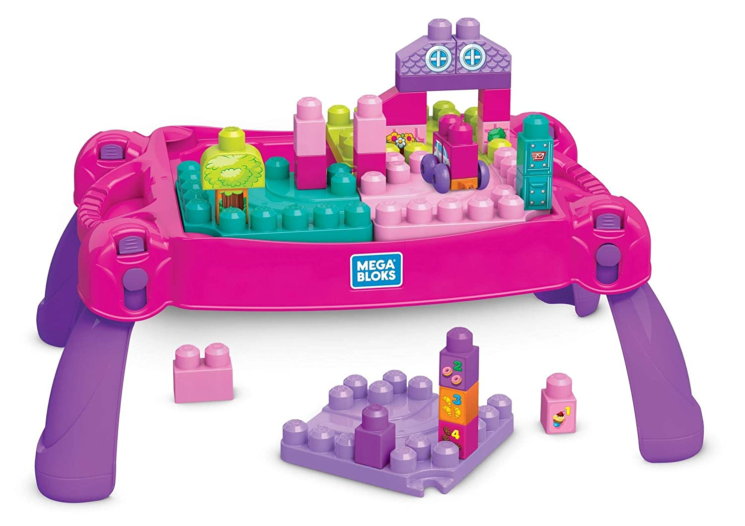 Mega Bloks Build 'N Learn Table, Pink Mattel FFG22