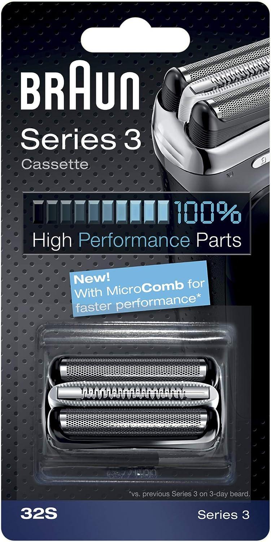 Braun - Combipack 32S - Láminas de recambio + portacuchillas para afeitadoras Nueva Series 3 300/360/380/390cc: Amazon.es: Salud y cuidado personal