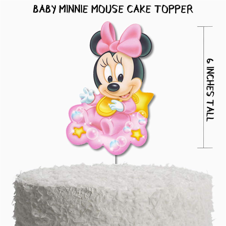 Pleasant Amazon Com Baby Minnie Mouse Baby Shower Cake Topper Baby Minnie Funny Birthday Cards Online Unhofree Goldxyz