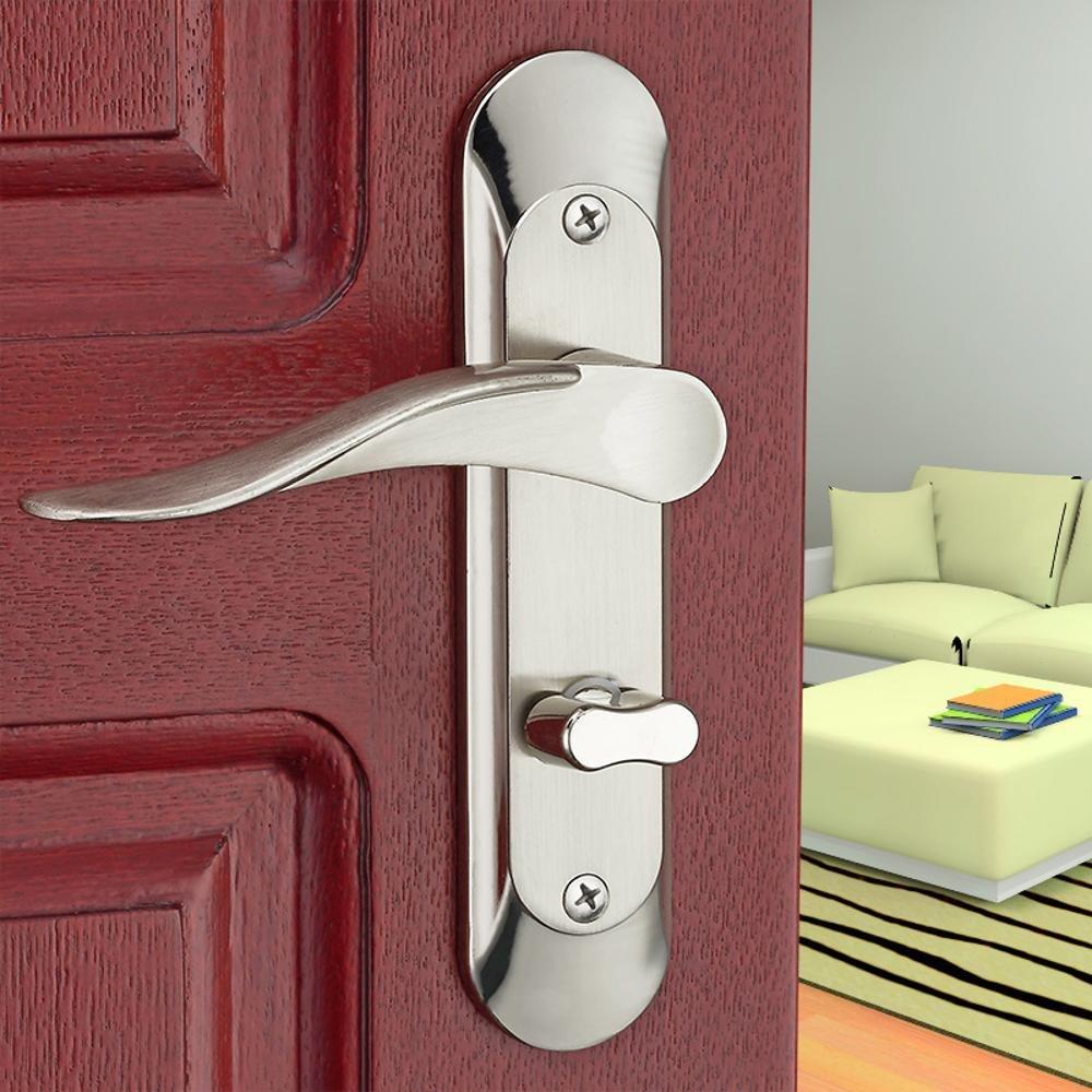 Jingzou Interior Wooden Door Lock Handle Lock Zinc Alloy Door Lock Hardware Kitchen Bathroom Keyless Door Lock