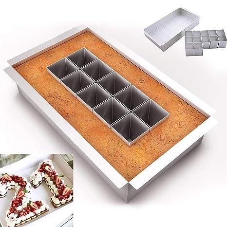 Molde para pasteles, pasteles, pasteles, galletas, cortadores de galletas y letras del