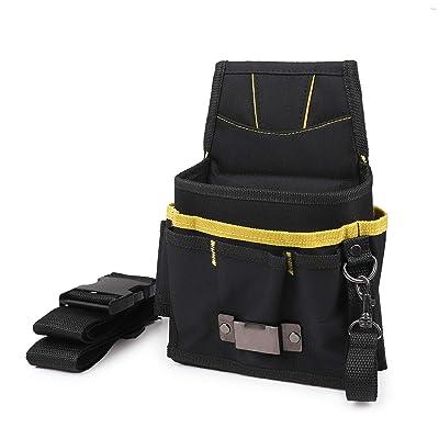 Ehdis Automotive Wrap Vinyl Film Install Tool Pouch Utility Gadget Belt Waist Bag Waterproof Oxford with Multi Pocket for Car Tools: Automotive