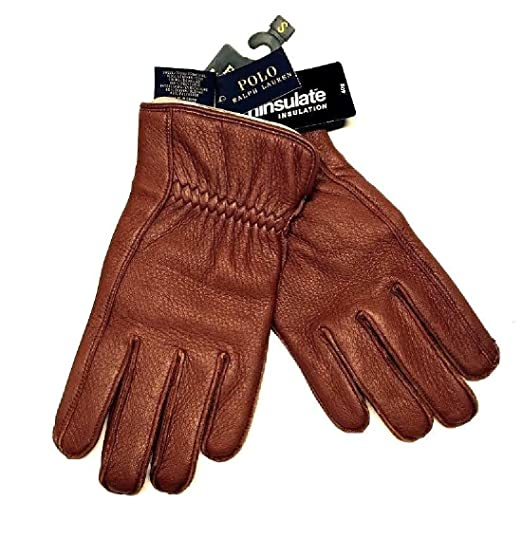 c33368658d8395 Polo Ralph Lauren Soft Leather 3M Thinsulate Men s Gloves Size Small ...