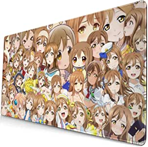 Anime Kawaii Cute The Helpful Fox Senko San Collage 15.8x29.5 in Large Gaming Mouse Pad Desk Mat Long Non-Slip Rubber Stitched Edges
