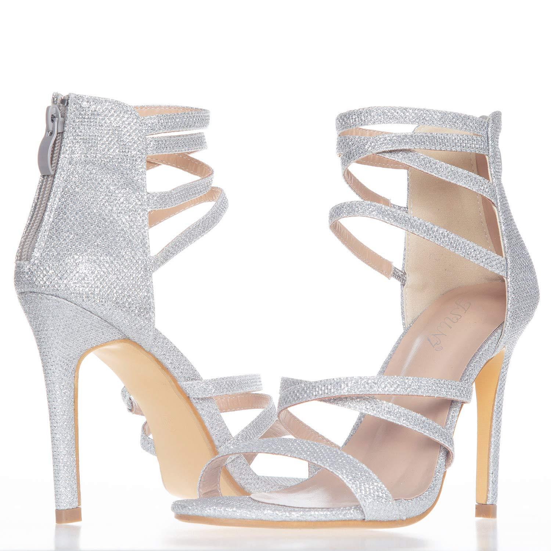 JSUN7 Womens Fashion Stiletto High Heel Sandal Pump Shoe